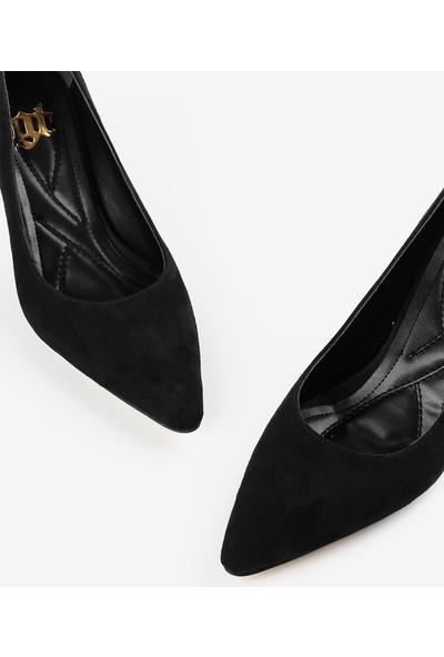 Gökhan Talay Siyah Süet Topuklu Kadın Ayakkabı