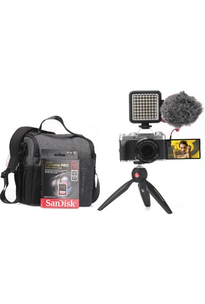 Fujifilm X-T200 Gümüş + XF 18-55 mm Vlogger Hazır Kit