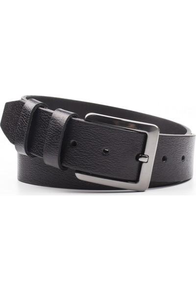 DSFSM 4 cm Spor Kot Pantolon Erkek Kemeri FSM0200 Düz-Siyah