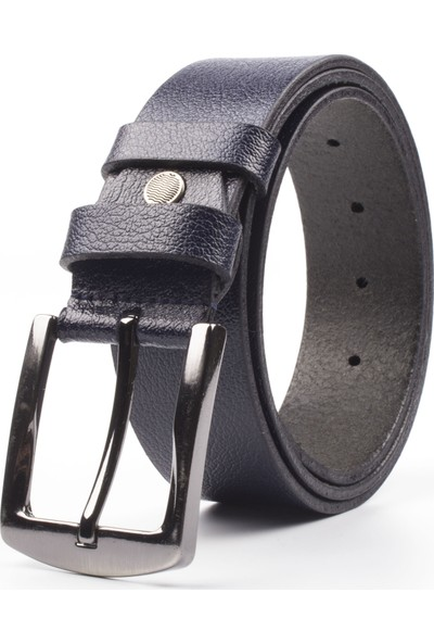 DSFSM 4 cm Spor Kot Pantolon Erkek Kemeri FSM0200 Düz-Lacivert