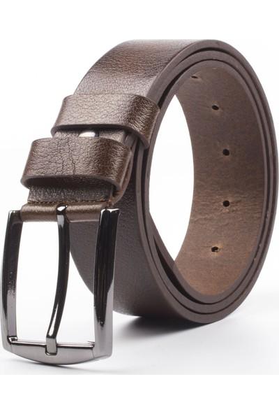 DSFSM 4 cm Spor Kot Pantolon Erkek Kemeri FSM0200 Düz-Kahverengi