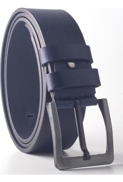 DSFSM 4,5 cm Spor Kot Pantolon Erkek Kemer FSM0100 Düz-Lacivert