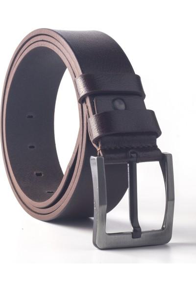 DSFSM 4,5 cm Spor Kot Pantolon Erkek Kemer FSM0100 Düz-Kahverengi