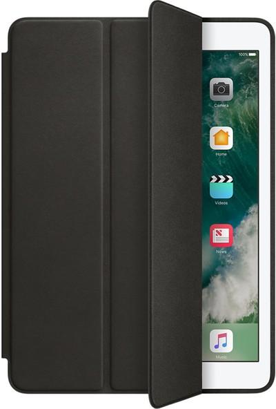 """Fibaks Apple iPad 8. Nesil (2020) 10.2"""" Kılıf + Kalem Uyku Modlu Smart Cover Arkası Renkli Sert P.c Katlanabilir Standlı Kapaklı Tablet Kılıfı Siyah"""
