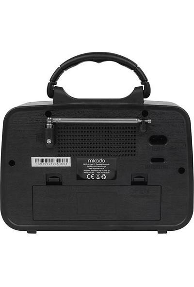 Mikado Mdr-99 Ahşap Usb-Tf Destekli Bluetooth Fm/am/sw Klasik Radyo