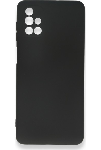Fibaks Samsung Galaxy M51 Kılıf 3D Kamera Korumalı Liquid Içi Kadife Yumuşak Silikon Siyah