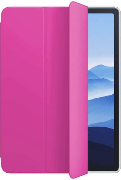 "Fibaks Samsung Galaxy Tab A7 T500 2020 10.4"" Kılıf + Kalem Uyku Modlu Smart Standlı Kapaklı Arkası Sert P.C Tablet Kılıfı Pembe"