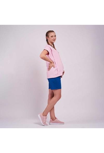 Mamma Lattes Hamile Şortu Classic Blue