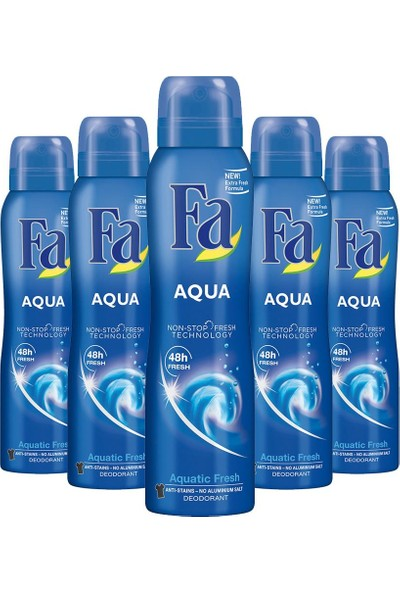 Fa Aqua Deo Spray 150 ml X5