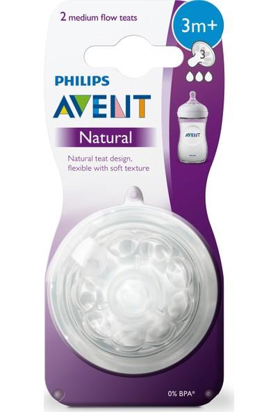 Philips Avent Natural Biberon Emziği 3 ay+ 2'li 3 numara SCF043/27