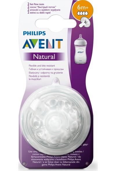 Philips Avent Natural Biberon Emziği 6 ay+ 2'li 4 numara SCF044/27