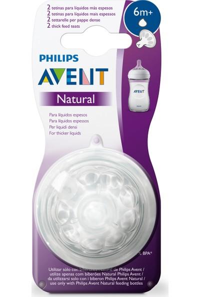 Philips Avent Natural Biberon Emziği Y Kesik 6m+ 2'li Yoğun Kıvamlı Gıdalar İçin SCF046/27