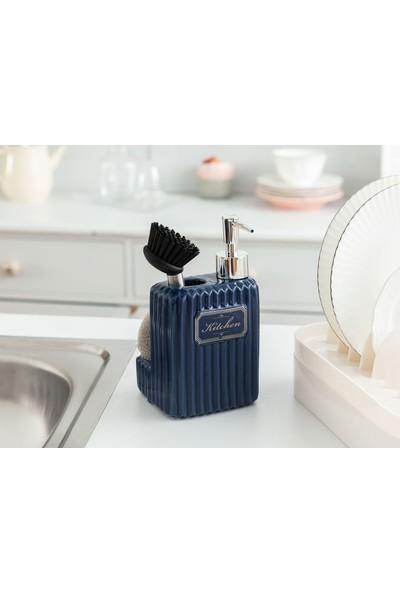 Madame Coco Freman Fırçalı Sıvı Sabunluk - Duman Mavisi