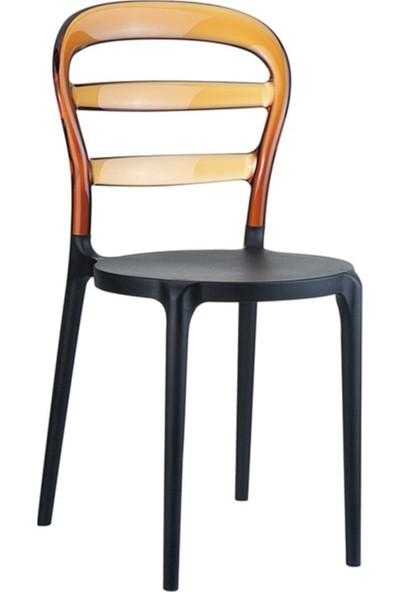 Sandalye Online Miss Bibi Siyah Kahverengi Plastik Sandalye