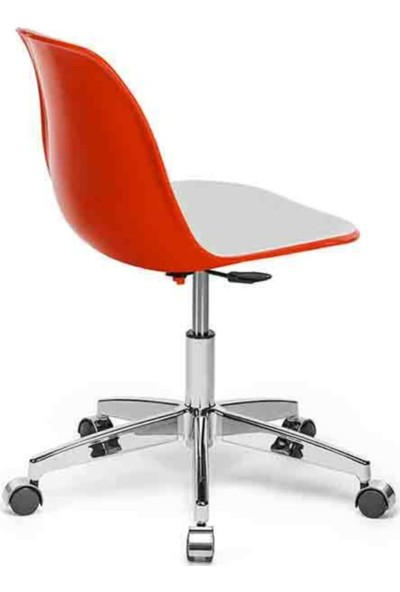 Sandalye Online Eos Çalışma Sandalyesi Turuncu Beyaz
