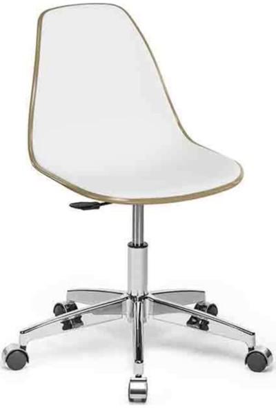 Sandalye Online Eos Çalışma Sandalyesi Kum Beji Beyaz