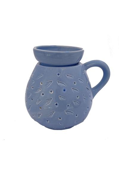 By Dilek Konakoğlu Seramik Dekoratif Buhurdanlık Mavi