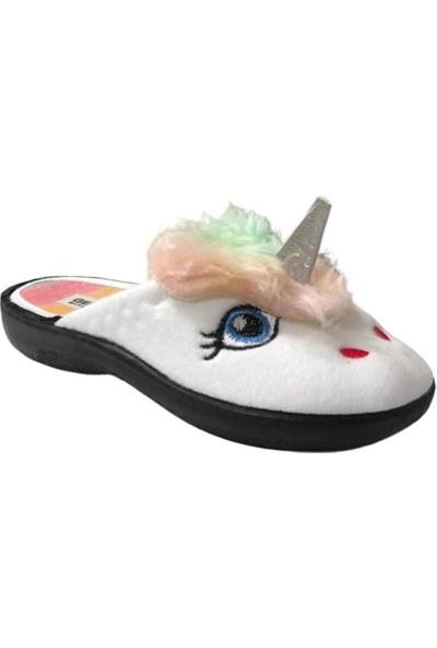 Gezer 12051 Unicorn Beyaz Çocuk Ev Içi Terlik