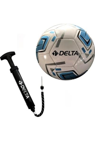 Delta Tempo No 5 Futbol Topu + Çok Fonksiyonlu Top Şişirme Pompası