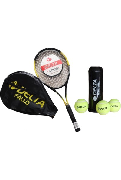 Delta Fallo 27 İnç Yetişkin Tenis RaketiTenis Maç Topu - 3 Adet
