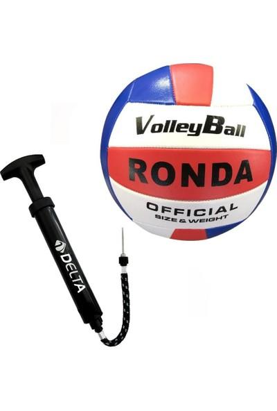 Delta Ronda Voleybol Topu + Çok Fonksiyonlu Top Şişirme Pompası
