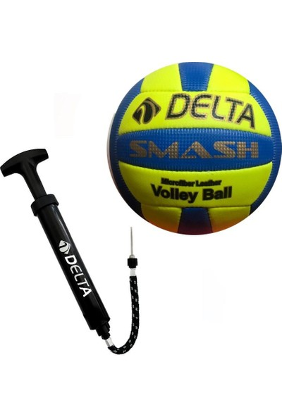 Delta Smash Voleybol Topu + Çok Fonksiyonlu Top Şişirme Pompası