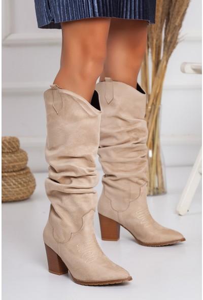 Western Çekme Topuklu Çizme