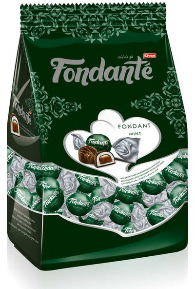 Elvan Fondante Çikolata Dolgulu Naneli 1 kg 1 Poşet