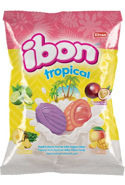 Elvan Ibon Tropical Sütlü Meyveli Şeker 1 kg 1 Poşet