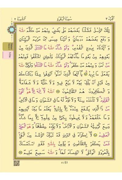 Hayrat Mavi Renkli Yaldızlı Kılıflı Kuran-I Kerim