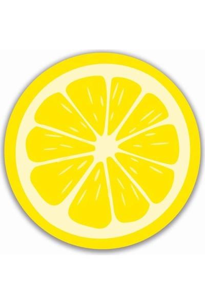 Brn Limon Desenli 4'lü Yuvarlak Amerikan Servis
