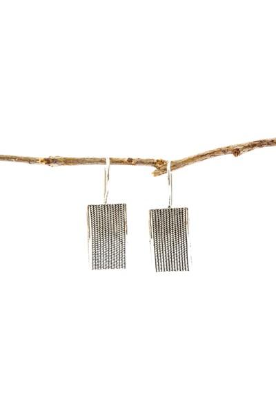 Magnamina İsme Özel Hediye Kutusunda Dikdörtgen Model Gümüş Set ve Kırmızı Gül