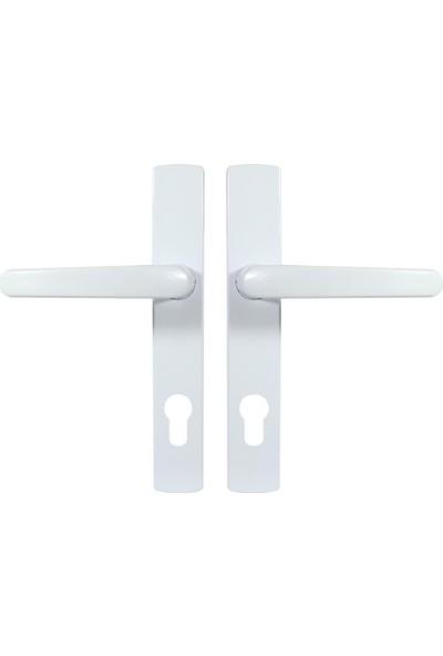 Pimapen Pvc Plastik Kapı Kolu Demirli Yale Beyaz