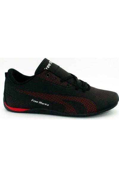Free Marka Free Marka Siyah Kırmızı Sneaker
