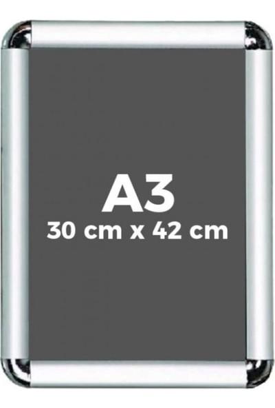 Fitfiyat A3 Açılır Kapanır Alüminyum Rondo Köşe Çerçeve 29 x 42 cm