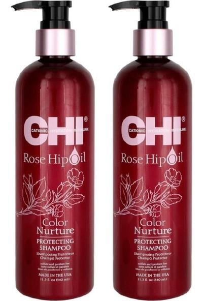 Chi Rose Hip Oil Boyalı Saçlar Için Şampuan 340ML X2