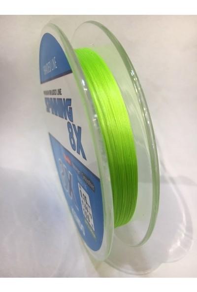 Kendo Premium Braided Line Spinning 8 x 0.15 mm 150 mt Apple Green - 8 Örgü