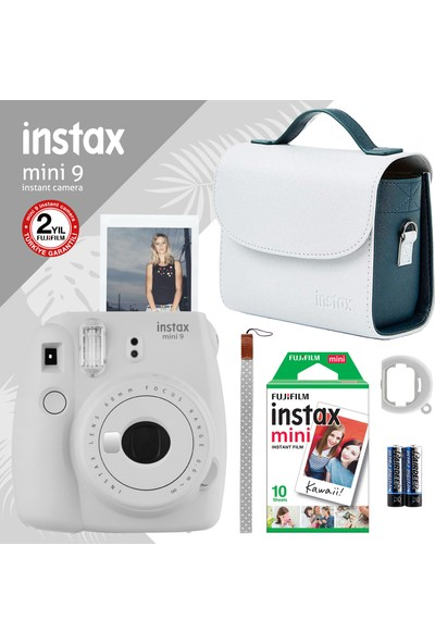 Instax Mini 9 Beyaz Fotoğraf Makinesi ve Hediye Seti 4