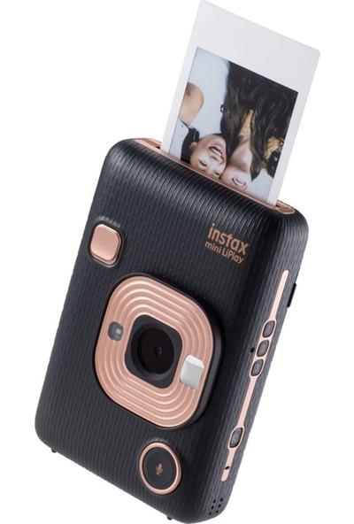 Instax Mini Liplay Hybrid Elegant Black Fotoğraf Makinesi 10'lu Mini Film