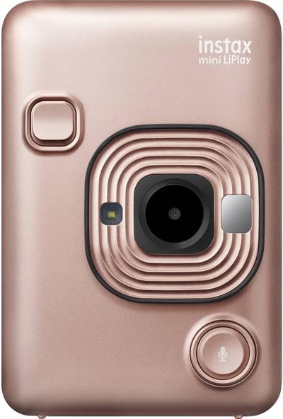 Instax Mini Liplay Hybrid Blush Gold Fotoğraf Makinesi 20'li Mini Film