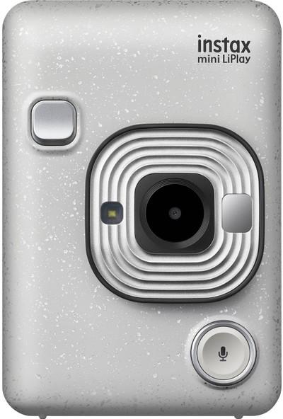 Instax Mini Liplay Hybrid Stone White Fotoğraf Makinesi Hediye Seti