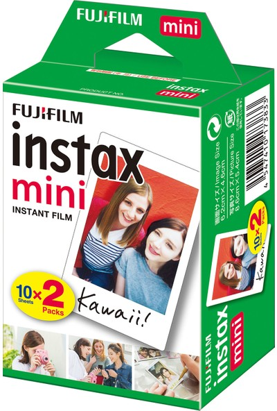 Instax Mini Liplay Hybrid Stone White Fotoğraf Makinesi 20LI Mini Film
