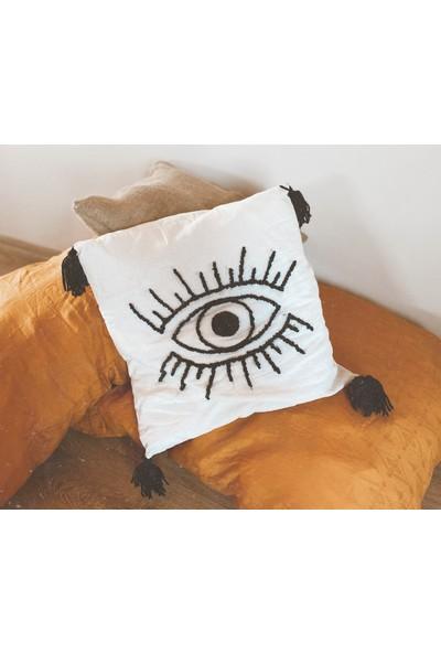 Evil's Eye Punch Kırlent Kılıfı