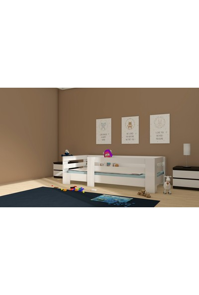 Nevramo Mdf Montessori Karyola Beyaz 90 x 190 cm Yatağa Uyumlu Lotus