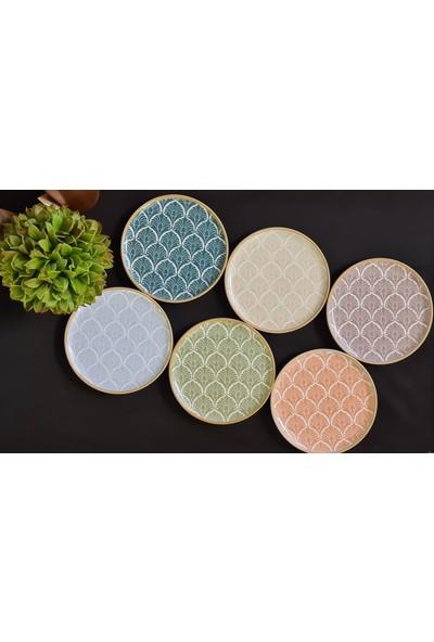Porland Aicha 6 Parça 6 Kişilik Porselen Pasta Servis Takımı