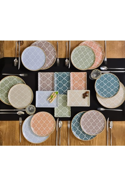 Porland Aicha 18 Parça 6 Kişilik Porselen YemekTakımı