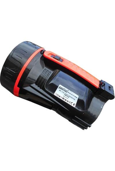 Panther PT-8640 Şarjlı El Feneri Işıldak 10W+18LED 500 Lümen