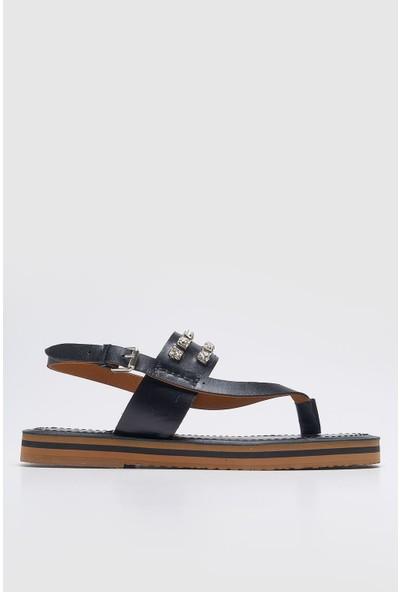 Louis Cardy Roco Siyah Taşlı Kadın Sandalet