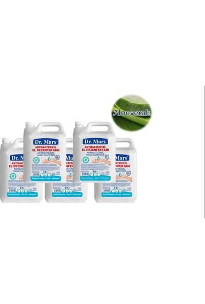 Dr. Mars Extra! 5 lt 5 Adet Aloe Veralı Antibakteriyel Alkollü El Dezenfektanı