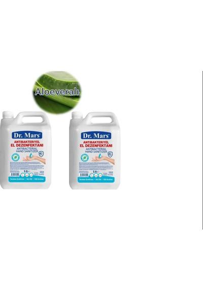 Dr. Mars Extra! 5 lt 2 Adet Aloe Veralı Antibakteriyel Alkollü El Dezenfektanı